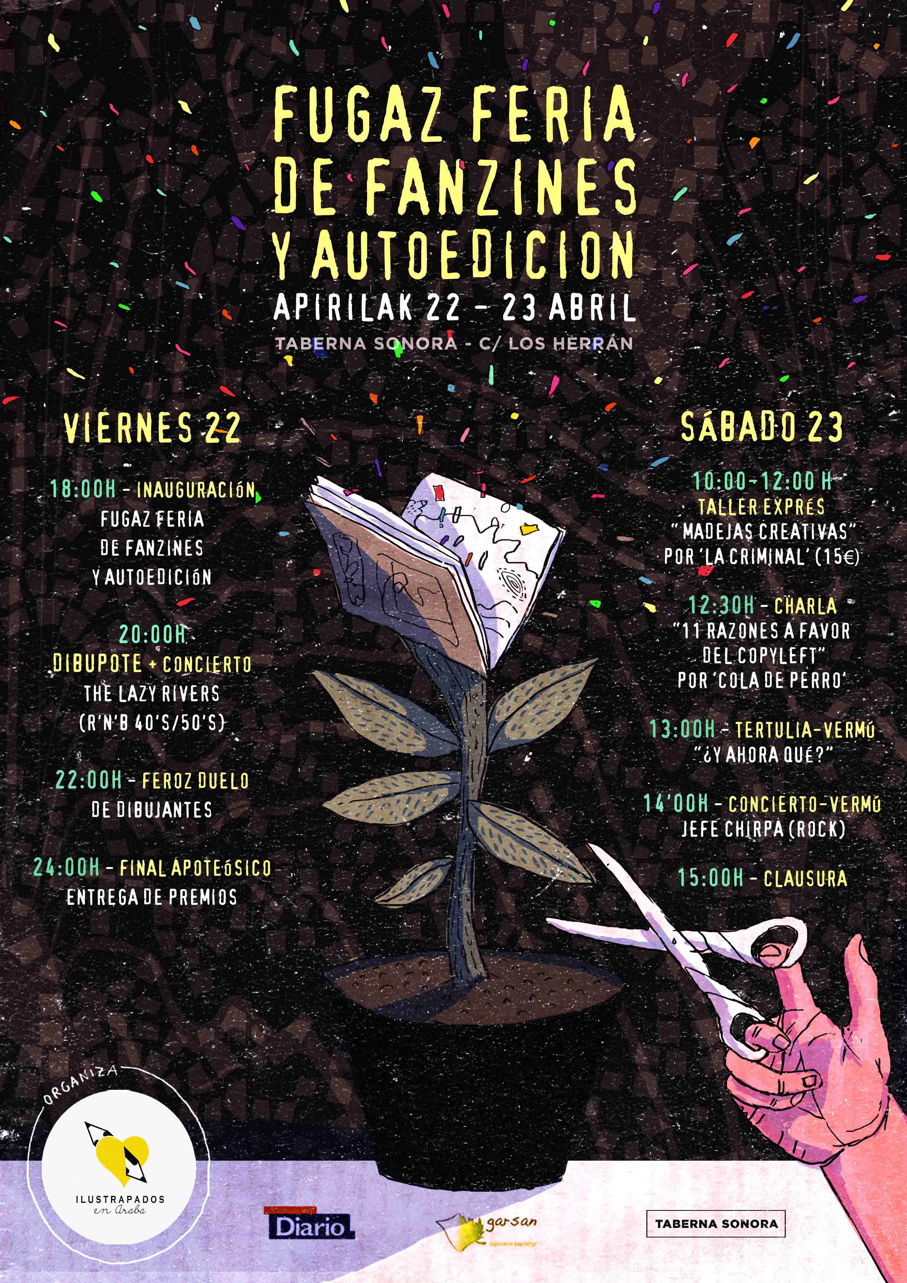 ilustrapados; Fugaz Feria de Fanzines y Dibupote
